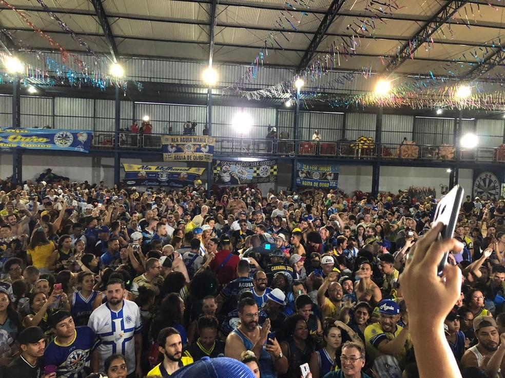Quadra da Águia de Ouro em festa — Foto: Ana Paula Campos/TV Globo