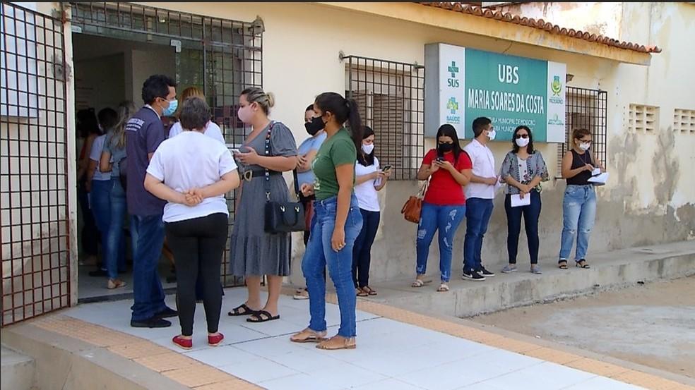 Mossoró começou nesta terça-feira (2) a vacinação dos profissionais de saúde da rede privada — Foto: Reprodução