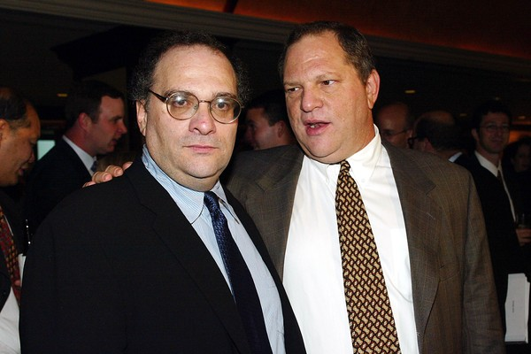 Os produtores de cinema e irmãos Bob Weinstein e Harvey Weinstein (Foto: Getty Images)