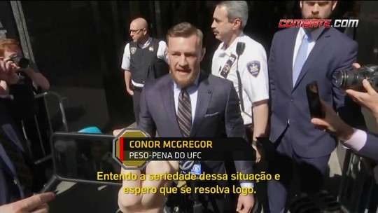 Revista Combate: Conor McGregor faz rápida declaração à imprensa após audiência