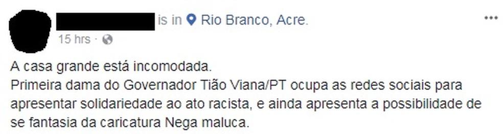 Primeira-dama recebeu várias críticas na web (Foto: Reprodução Facebook)