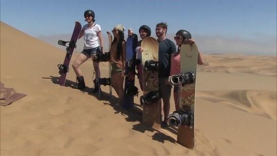 Pelo Mundo: Deserto da Namíbia, no sul da África, é ideal para a prática de esportes