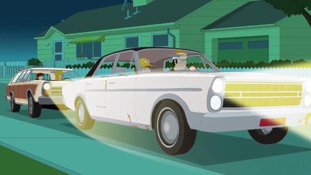 Ford Galaxie e Country Squire são os dois personagens automotivos de maior destaque (Foto: Divulgação)