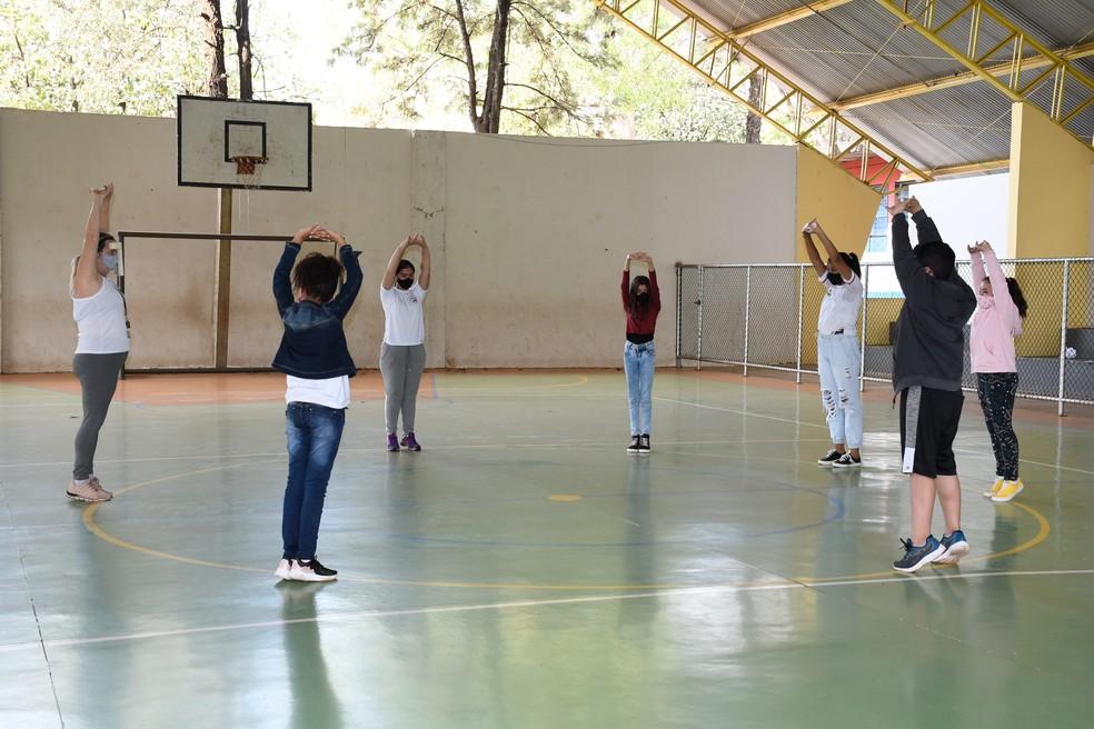 Aulas presenciais foram retomadas em 37 escolas municipais de Presidente Prudente nesta segunda-feira (16) — Foto: Marcos Sanches/Secom