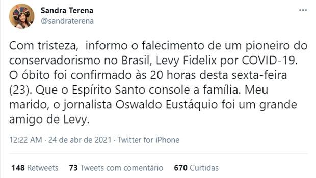 Personalidades lamentam a morte de Levy Fidelix (Foto: Reprodução)
