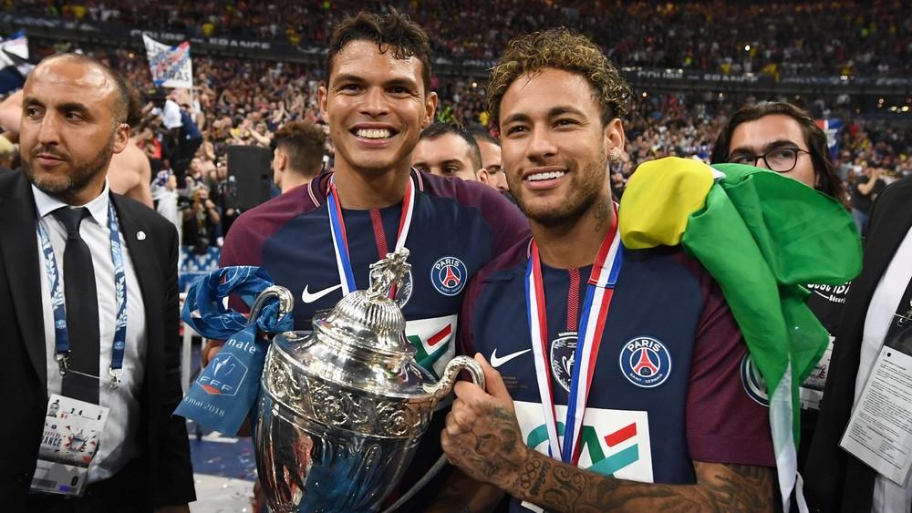 Neymar Thiago Silva PSG campeão Copa da França
