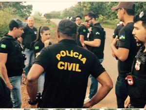 Policiais civis fazem operação contra grupo em RO (Foto: Alex Ribeiro/Arquivo pessoal)
