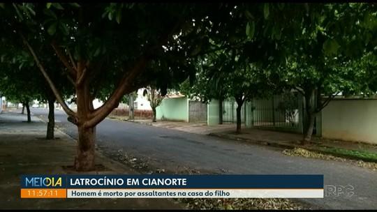 Homem é morto durante tentativa de assalto a uma casa em Cianorte