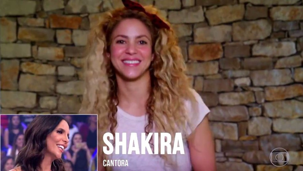 Shakira gravou depoimento para Ivete e a web