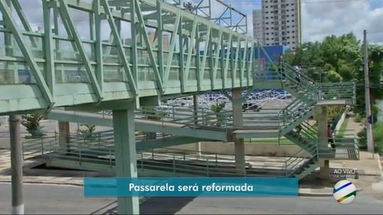 Passarela para pedestres em avenida de Cuiabá deve ficar interditada por 3 meses para reforma
