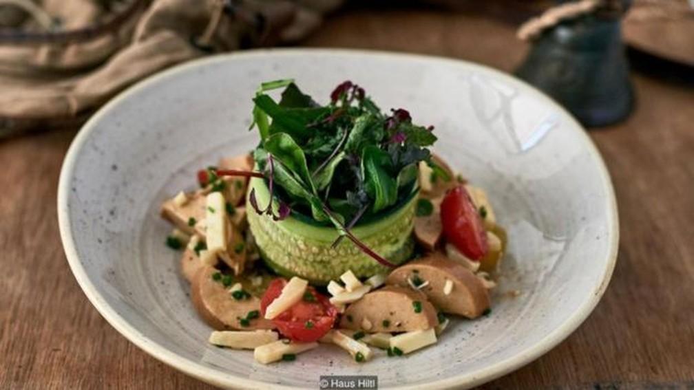 O Haus Hiltl serve pratos vegetarianos em Zurique, na Suíça, há mais de 100 anos — Foto: Divulgação/Haus Hiltl