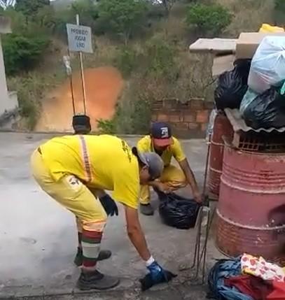 Garis resgatam seis filhotes de cachorro dentro de saco de lixo em Barra Mansa; veja vídeo - Notícias - Plantão Diário