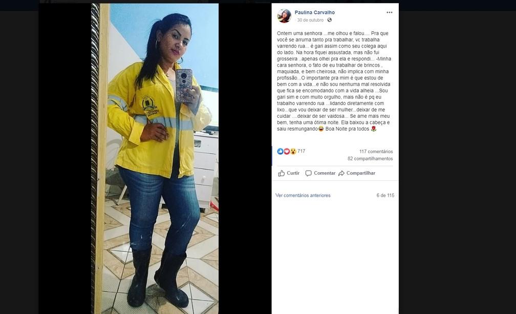 Paulina fez post relatando preconceito sofrido e ganhou fama na web — Foto: Facebook/Reprodução