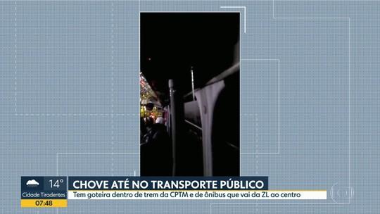 Goteira no transporte público