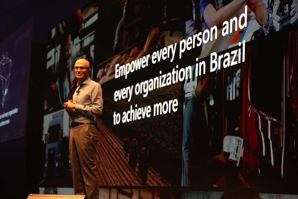 Satya Nadella, presidente da Microsoft — Foto: Reinaldo Canato/Divulgação