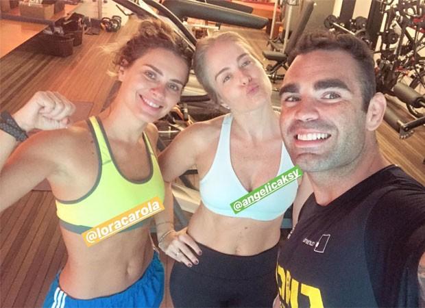 Carolina Dieckmann, Angélica e Chico Salgado (Foto: Reprodução)