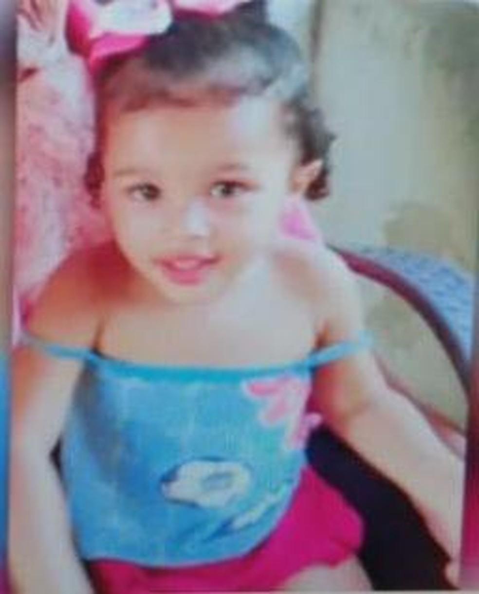 Maria Esther tinha 3 anos — Foto: Inter TV Cabugi/Reprodução