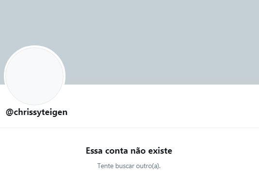 Chissy Teigen deixa o Twitter (Foto: Reprodução / Twitter)