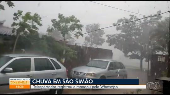 Telespectador registra forte chuva em São Simão