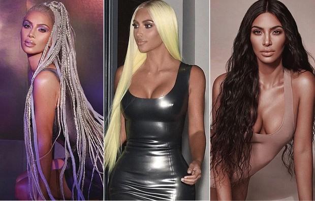 Kim Kardashian é superadepta das wigs (Foto: Reprodução/Instagram)