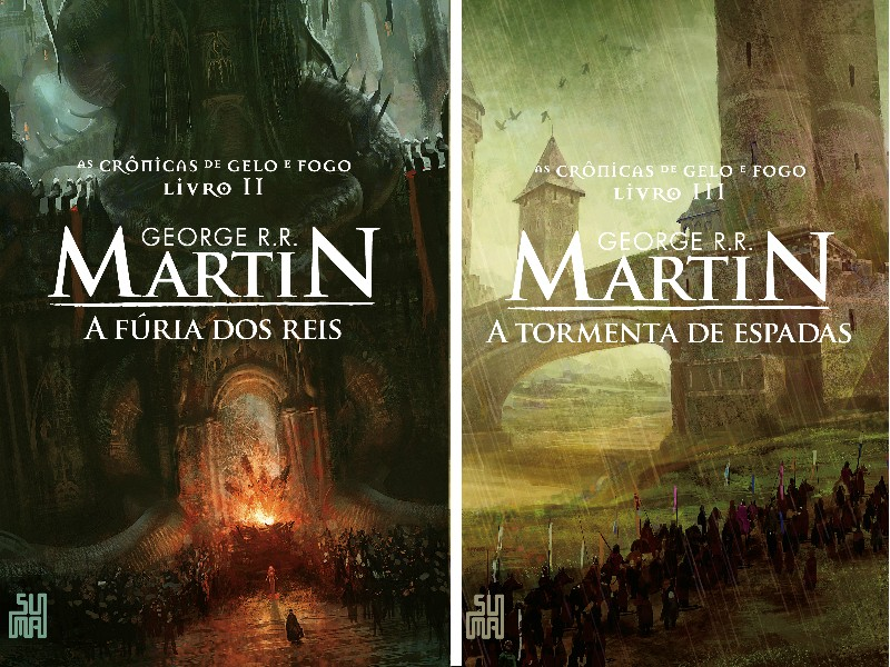 Capas das novas edições dos livros de As Crônicas de Gelo e Fogo (Foto: divulgação)