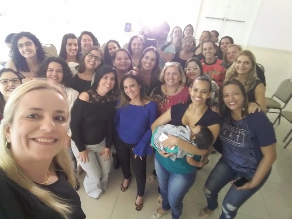 Integrantes do grupo Empreendedoras 013, que se reúne uma vez por mês, presencialmente, para discutir projetos (Foto: Arquivo Pessoal)