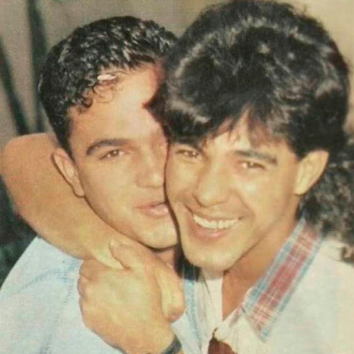 Zezé Di Camargo e Luciano no começo da dupla (Foto: Divulgação)