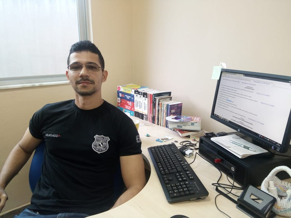 Delegado de Polícia Civil William Fonseca, de Oriximiná, no Pará — Foto: Márcio Garcia/Arquivo pessoal