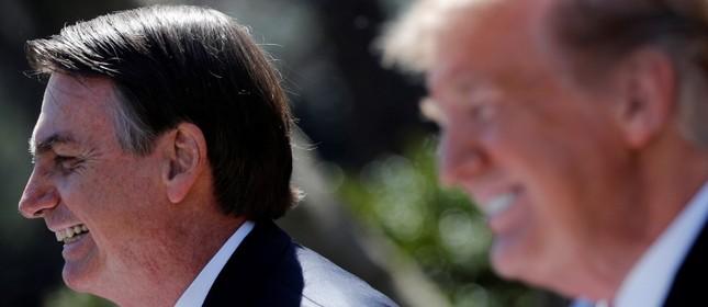 Bolsonaro e Trump na Casa Branca