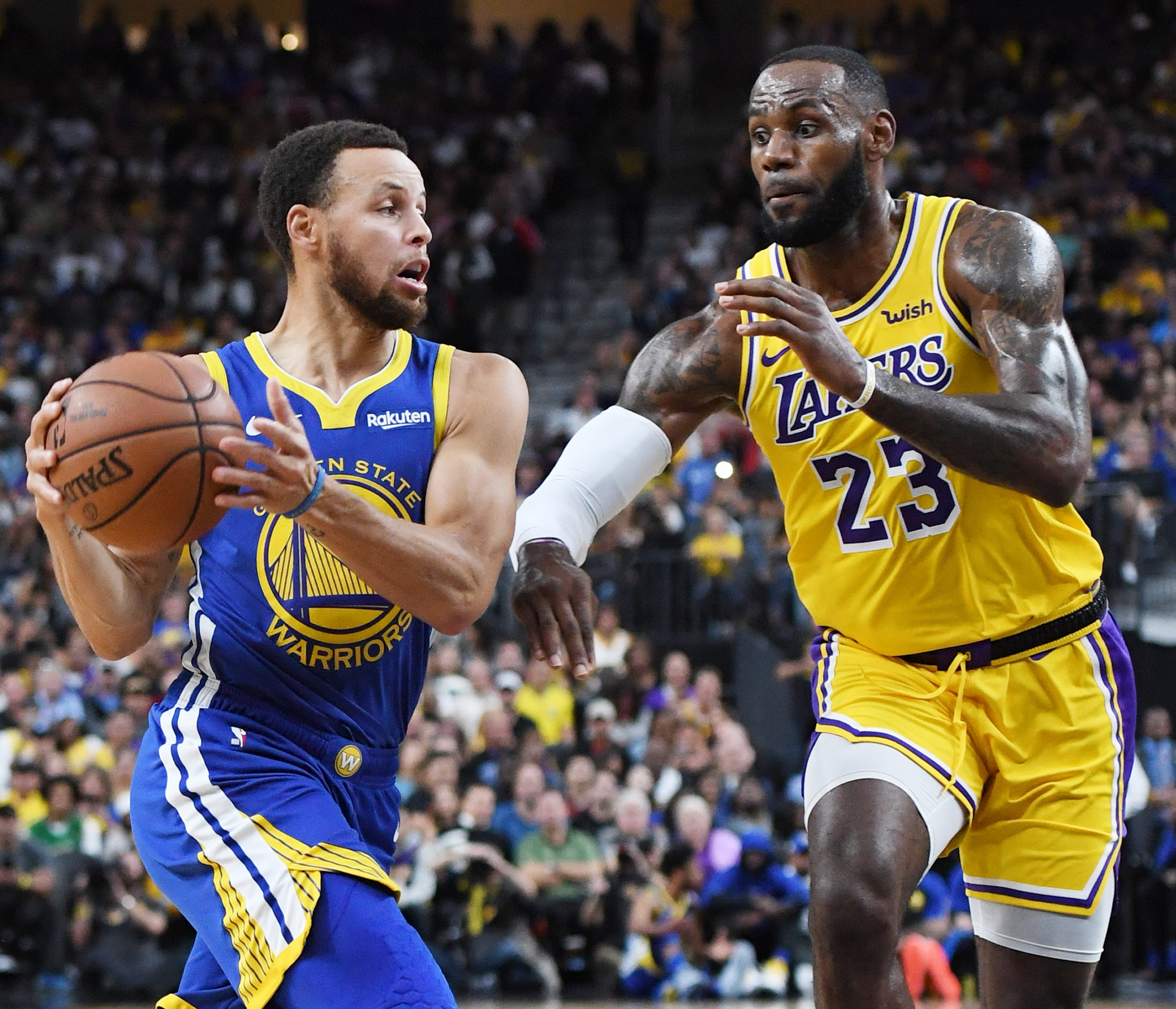 Stephen Curry e LeBron James (Foto: Getty Images)