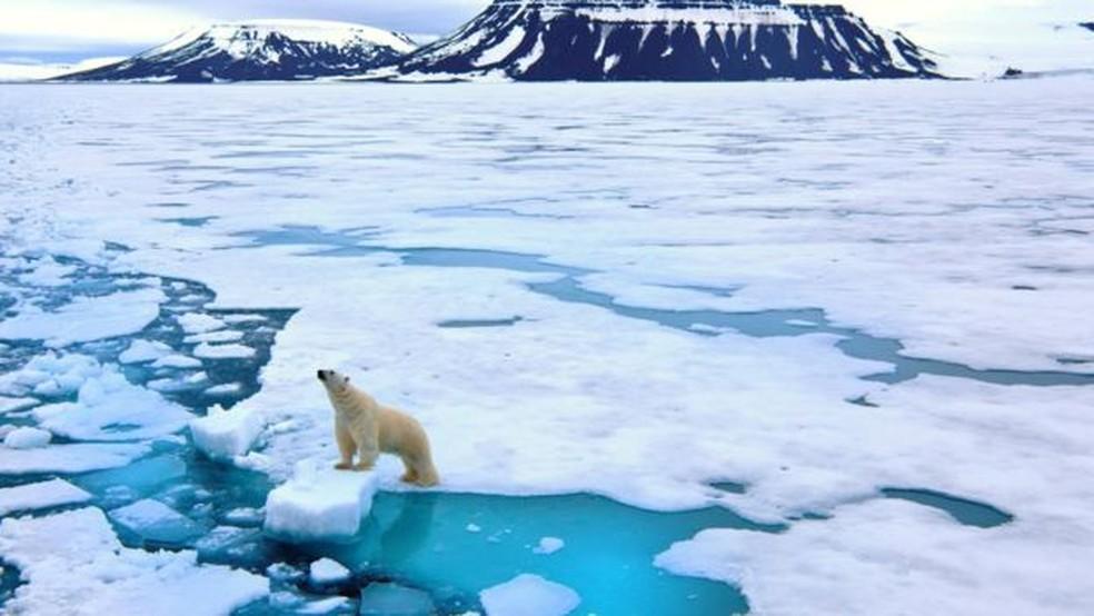 Buracos na camada de ozônio no Polo Norte são raros — Foto: Getty via BBC