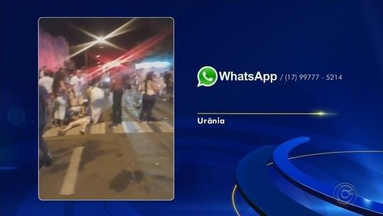 Grupo é atropelado por carro durante festa de réveillon em praça de Urânia