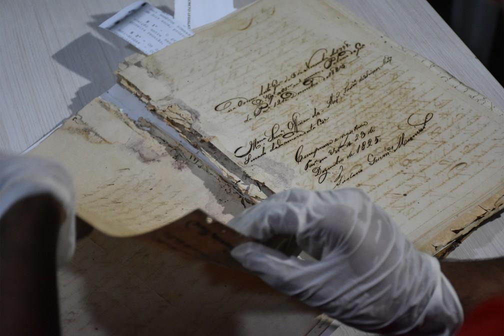 Documentos históricos vão ser restaurados, em João Pessoa — Foto: Divulgação/CMJP
