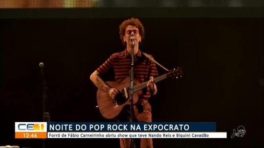 Quarto dia de EXPOCRATO com pop rock; também tem espaço para artesãos na exposição