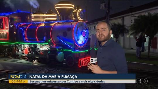 Maria Fumaça de Natal passa por nove cidades do Paraná; confira a programação