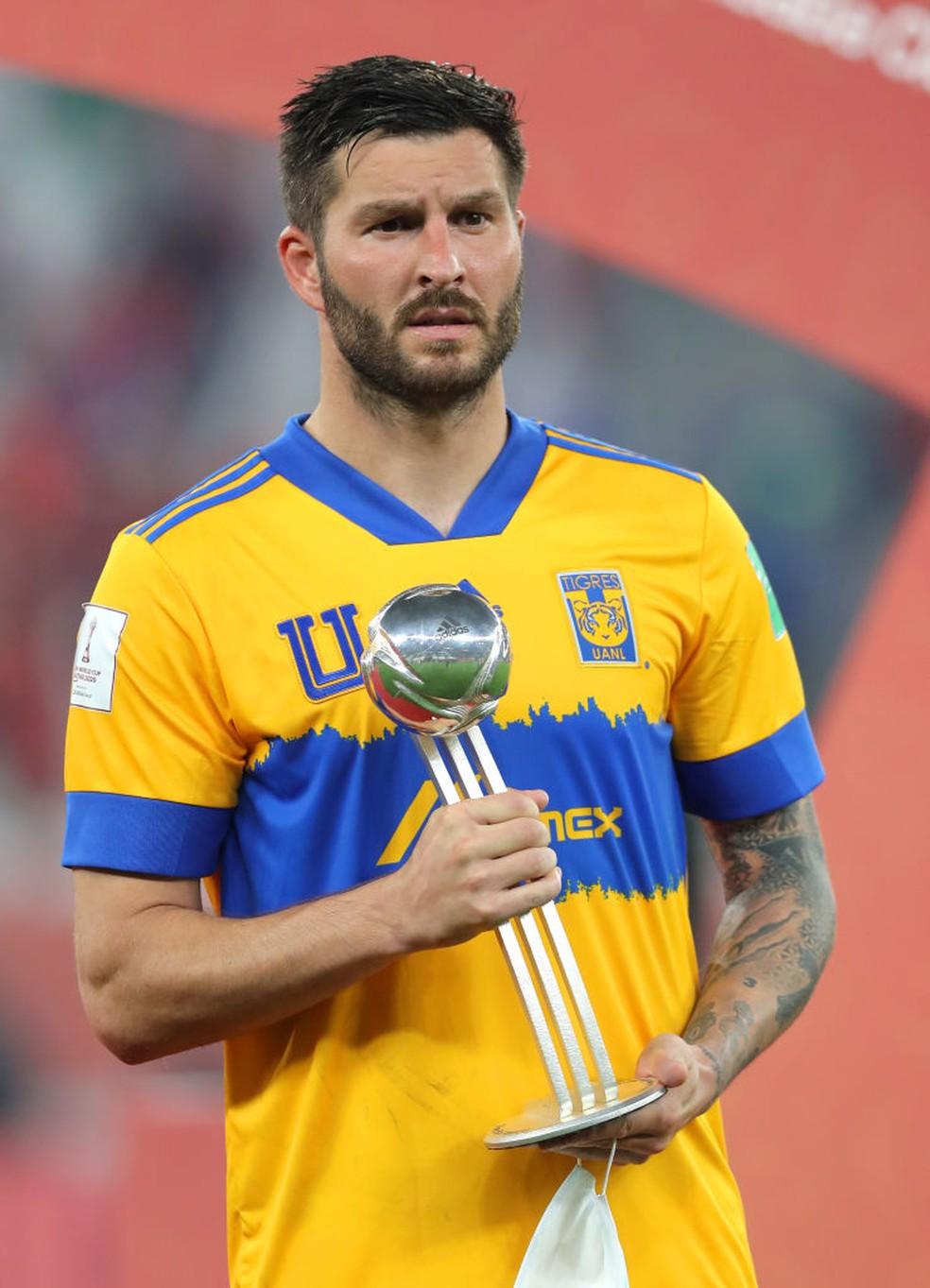 Gignac é eleito o segundo melhor jogador do Mundial de 2020 — Foto: Getty Images