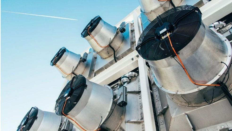 Dispositivo é capaz de absorber até 900 toneladas de CO2 por ano (Foto: Climeworks)