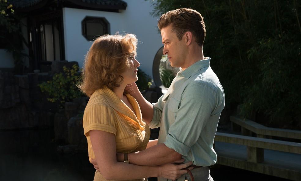 Kate Winslet e Justin Timberlake em 'Roda gigante', novo filme de Woody Allen (Foto: Divulgação/Imagem Filmes)