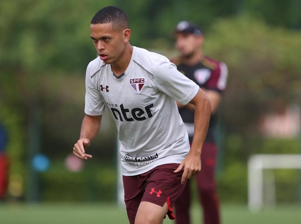 Marcos Guilherme, do São Paulo, soma seis gols em 22 jogos (Foto: Rubens Chiri/saopaulofc.net)