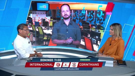 Comentaristas debatem duelo entre Internacional e Corinthians pelo Brasileirão