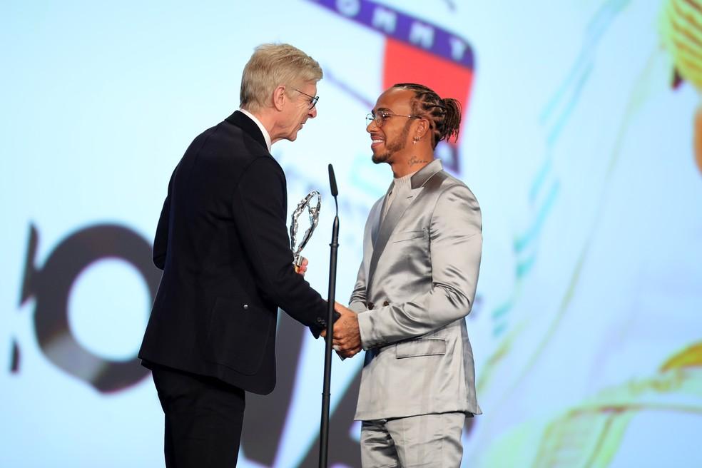 Lewis Hamilton Prêmio Laureus 2020 — Foto: Andreas Rentz/Getty Images for Laureus