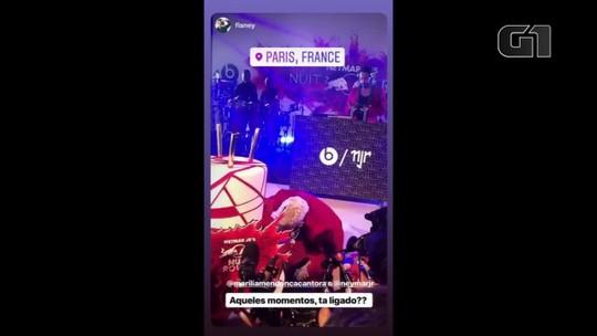 Marília Mendonça aparece de surpresa em festa de Neymar em Paris
