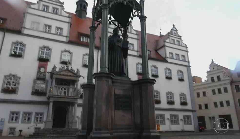 Ideias da Reforma Protestante nasceram em Wittenberg, na Alemanha,  (Foto: Reprodução/ TV Globo)