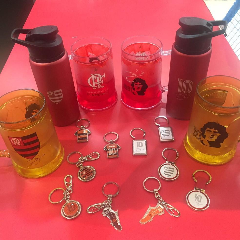 Zico é exibido em diversos produtos (Foto: Divulgação)
