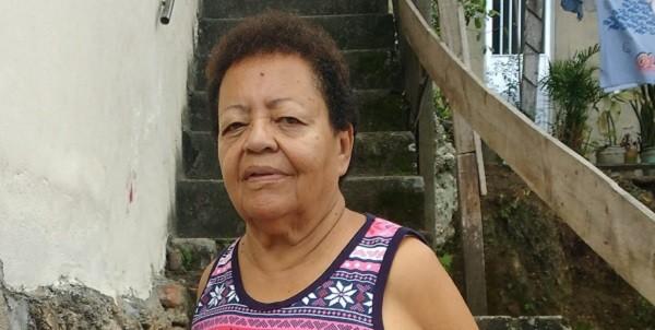 Maria Alice Magalhães, na favela do Vidigal, onde mora