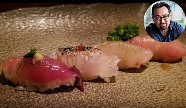 Leonardo Jun Sakamoto cria pratos de origem japonesa no restaurante homônimo (Foto: Plínio Nakamura/ Reprodução)