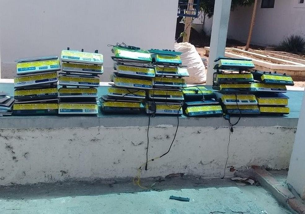 Balanças são apreendidas em Ipubi e Araripina — Foto: Divulgação/ Ipubi