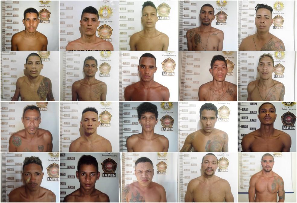 Vinte presos continuam foragidos do Complexo Penitenciário Francisco d'Oliveira Conde, em Rio Branco — Foto: Divulgação/Iapen-AC