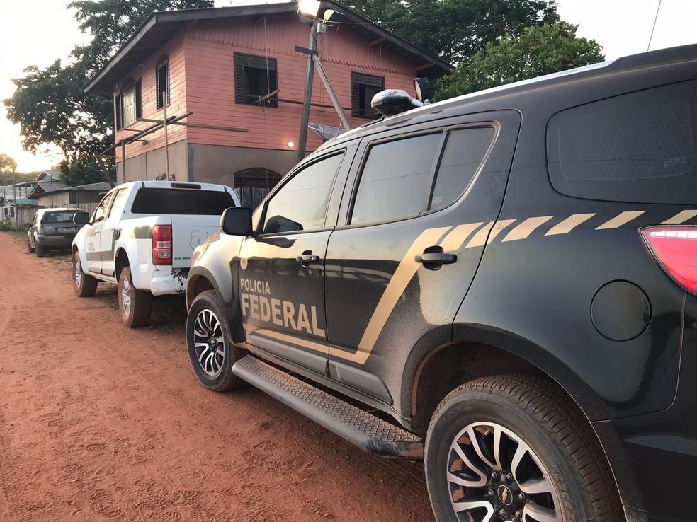 Operação 'Salus' prende homem flagrado com imagens pornográficas de crianças em celular, em Vitória do Jari — Foto: PF/Divulgação