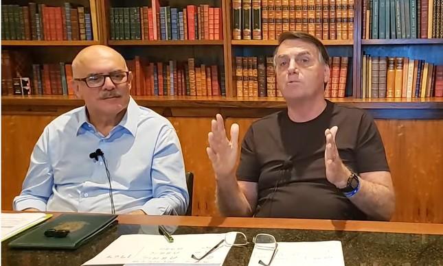 Ministro da Educação, Milton Ribeiro, e presidente Jair Bolsonaro